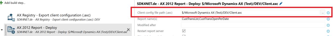 Define configuration file